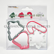 Mini Christmas Cutter Set of 4 Fox Run