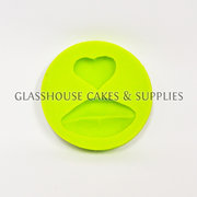 Heart and Lips Silicone Molds