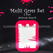 Multi Grass Airbrush Stencil
