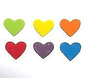 Assorted Multi-Coloured Heart Edible Toppers - 20 pack