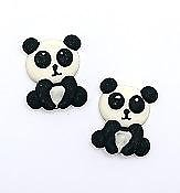 Panda Edible Toppers - 6 pack