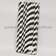 Black Paper Straws – 25 pack