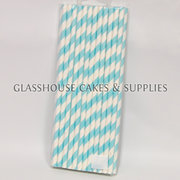 Light Blue Paper Straws – 25 pack