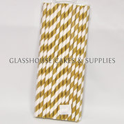 Gold Paper Straws – 25 pack