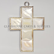 Faux Pearl Cross – Large