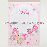 Pink Butterfly Invitations