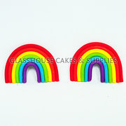 Rainbow Icing Cupcake Toppers