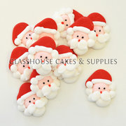 Santa Edible Icing Toppers