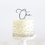Number ONE (Silver Metal) - Cake Topper