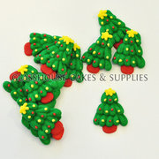 Christmas Tree Edible Icing Toppers