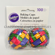 Wilton 75 Baking Cups Block Colours S